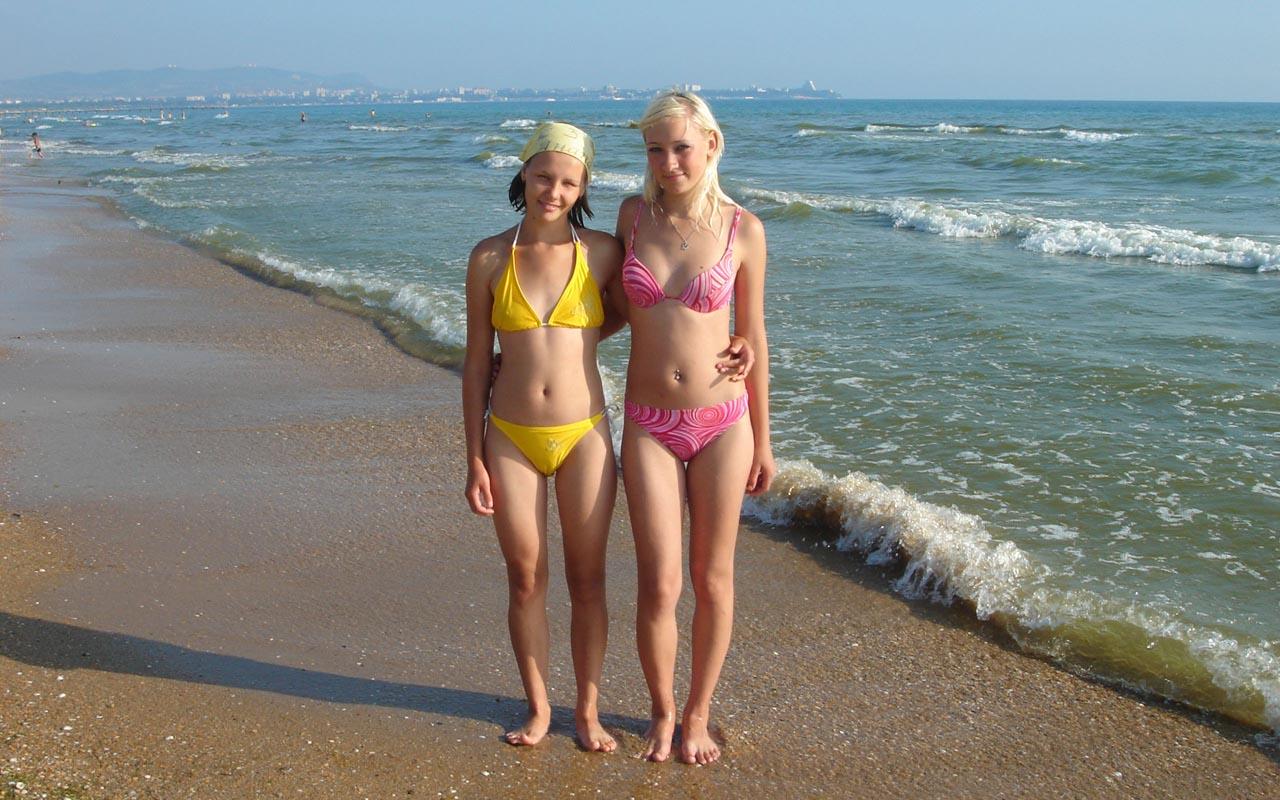 Русские девочки на пляже фото 673-38